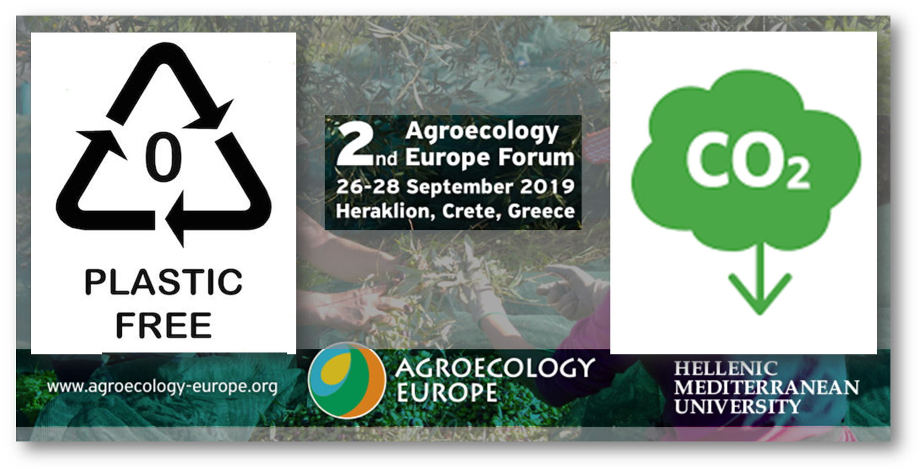 We Follow A Plastic Free And Carbon Emissions Offset Policy Second Agroecology Europe Forum In Crete
